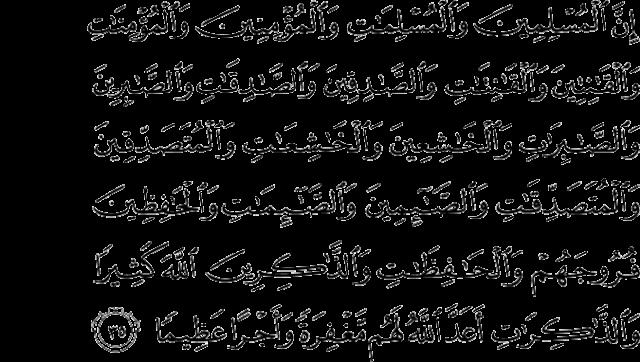 Surah al-Ahzab 33:35